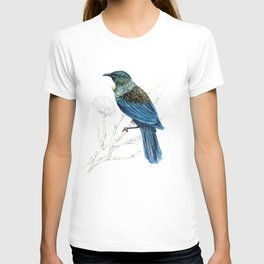 Tui, New Zealand native bird T-shirt