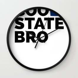 Cool State Bro - Delaware Wall Clock