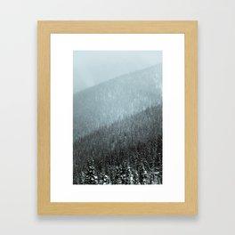 Snowy Mountain Hillsides Framed Art Print