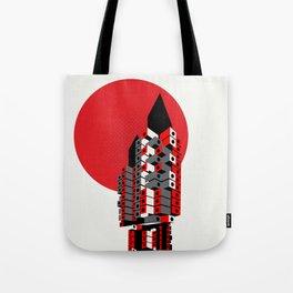 Brutalist Japan, The Nakagin Capsule Tower Tote Bag