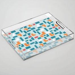 Bricks - dark Acrylic Tray