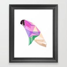 Abstract Pigeon Framed Art Print
