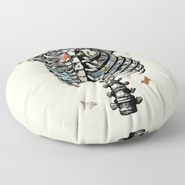 The Cage Floor Pillow