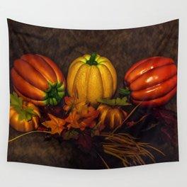 Autumn Pumpkins Wall Tapestry