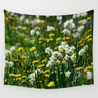 bees Wall Tapestries featuring Bees Delight by Fine Art by Rina