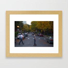 Across the street Framed Art Print