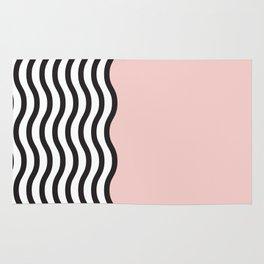 Waves of Pink Rug