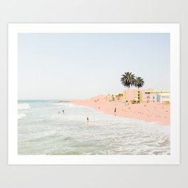 Pink Beach #society6 #decor #buyart Art Print