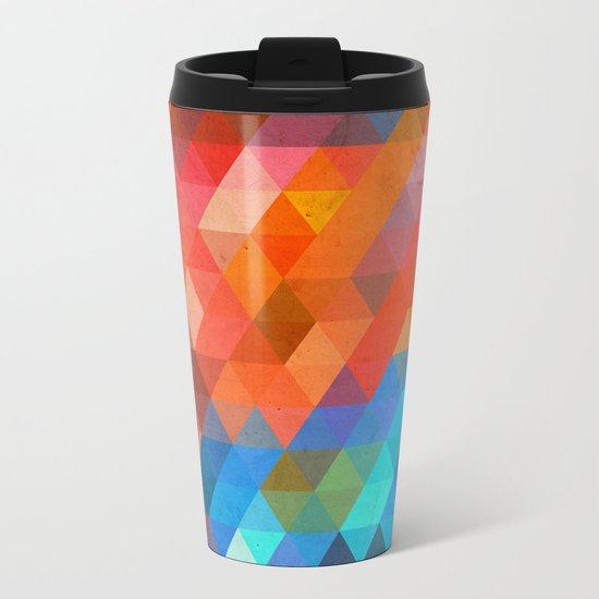 Color Triangles Metal Travel Mug