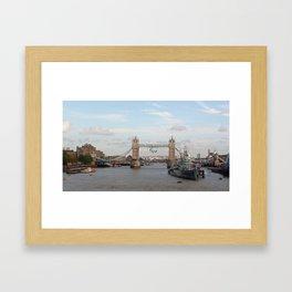 Tower Bridge with Paralympic Symbols Framed Art Print
