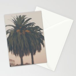 Palm tree at sunset print Stationery Cards