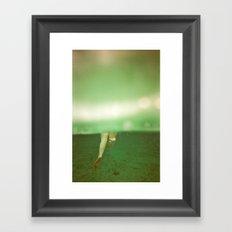 Underwater Feet Framed Art Print