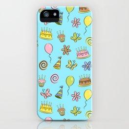 """Birthday"" (Blue) iPhone Case"