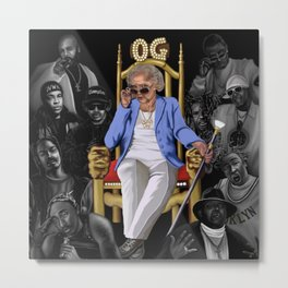 Betty White: The real OG  Metal Print