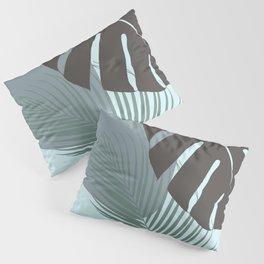 Minimal Monstera Palm Finesse #2 #tropical #decor #art #society6 Pillow Sham