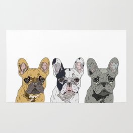 Triple Frenchies Rug