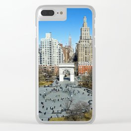 Washington Square Park, NYC Clear iPhone Case