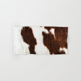 Cowhide Brown Spots Hand & Bath Towel