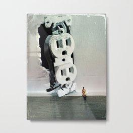 House Disaster Art -  Unplugging Metal Print