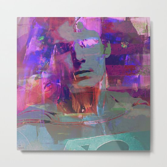 Super Abstract Man Metal Print