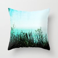 big sur Throw Pillows featuring Big Sur by Mermaid's Coin Surf Art * by Hannah Kata