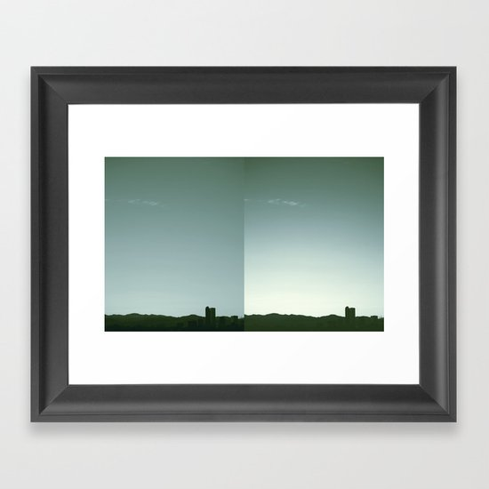 Denver Silhouette Framed Art Print