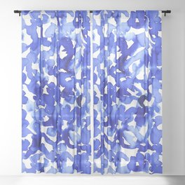 Energy Blue Sheer Curtain