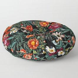 Marijuana and Floral Pattern Floor Pillow