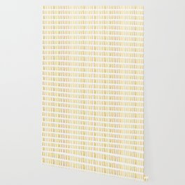 Luxe Gold Light a Candle Pattern, Hand Drawn Seamless Vector Illustration Wallpaper