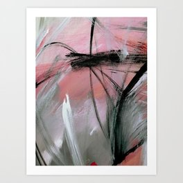 Train of thought [2]: a pretty abstract mixed media piece Art Print