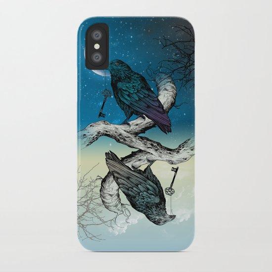 Raven's Key Night+Day iPhone Case