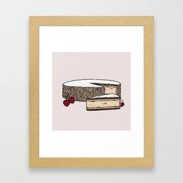 Z is for Zuger Kirschtorte Framed Art Print