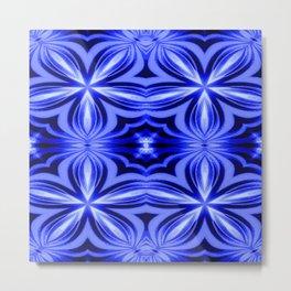 Electric Blue Pattern Metal Print