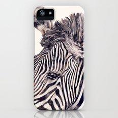 Zebra Cream iPhone (5, 5s) Slim Case