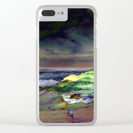 Hawaii Sea And Sky Abstract Clear iPhone Case