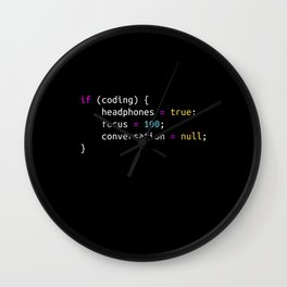 Funny gift for Programmer   Headphones Wall Clock