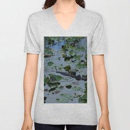 Florida Gator Amongst The Waterlilies Unisex V-Neck