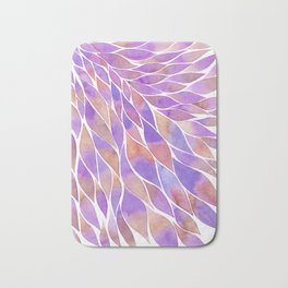 Pink and purple feathers palette Bath Mat