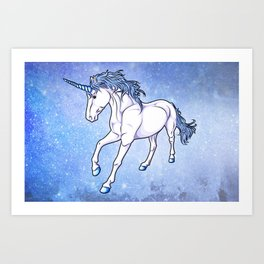 The Unicorn Colored Art Print