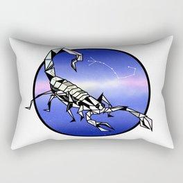 Scorpio Zodiac Sign Rectangular Pillow
