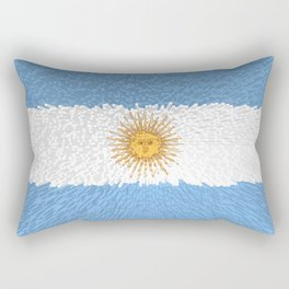 Extruded Flag of Argentina Rectangular Pillow