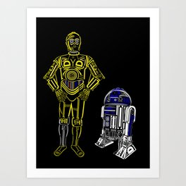 C3TYPO and R2TYPO Art Print