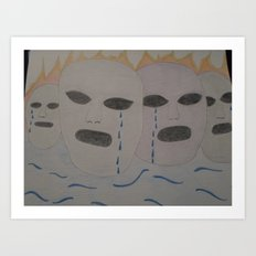Crying for the world Art Print