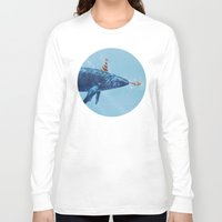 party Long Sleeve T-shirts featuring Party Whale  by Terry Fan