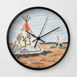 Painted Desert Indian Center Wall Clock