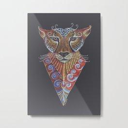 Cheetah Totem Metal Print