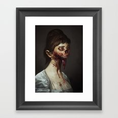 Old Zombie Portrait Framed Art Print