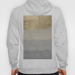 Geometrical ombre glacier gray gold watercolor Hoody