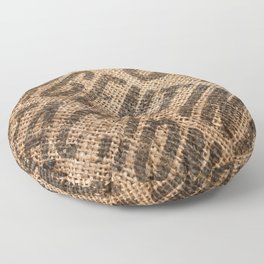 Burlap sack Floor Pillow