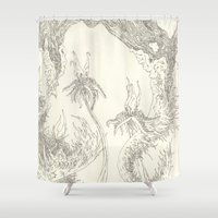plants Shower Curtains featuring Plants by Andrew Ken Stewart
